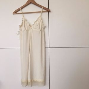 Anthropologie Ivory Slip Nightgown Tank Dress